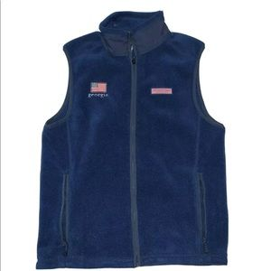 Vineyard Vines Harbor Fleece Vest Navy Georgia